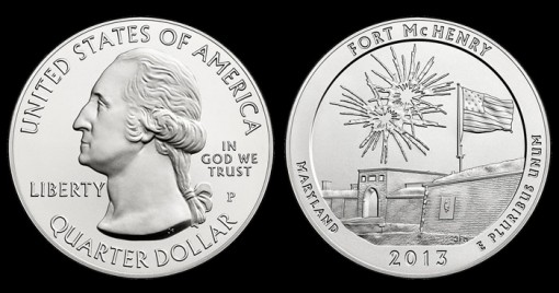 2013-P Fort McHenry 5 Oz Silver Uncirculated Coin