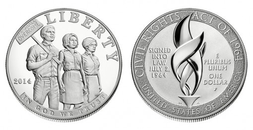 Civil Rights Act of 1964 Proof Silver Dollar