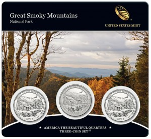 21st America the Beautiful Quarters Three-Coin Set