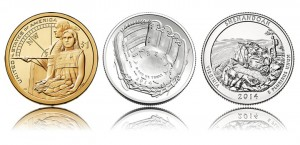 2014 Baseball Coins, Shenandoah Quarters in March Product Schedule