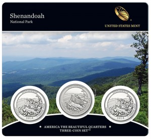 22nd America the Beautiful Quarters Three-Coin Set