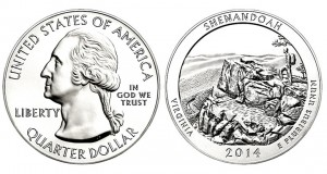 2014Shenandoah National Park Five Ounce Silver Bullion Coin