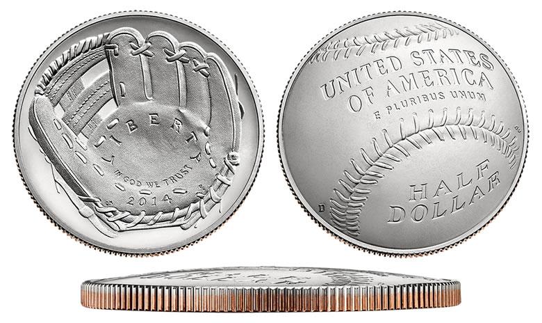 2014 Baseball Hall of Fame Commemorative Brilliant Uncirculated Silver Dollar BU Box w//COA US Mint