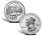 Olympic National Park Silver Uncirculated Coin