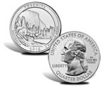 Yosemite National Park Silver Uncirculated Coin