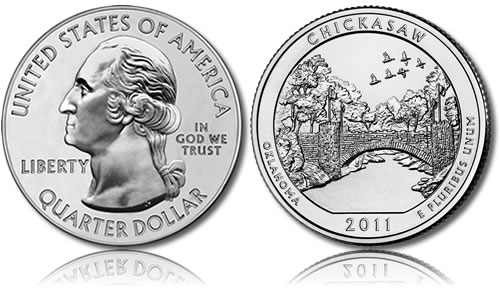 Chickasaw National Recreation Area Silver Uncirculated Coin