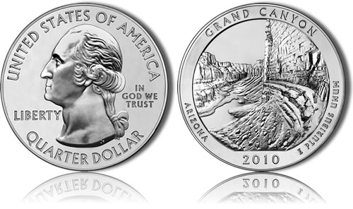 Grand Canyon National Park Silver Uncirculated Coin