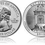 Hot Springs National Park Silver Uncirculated Coin