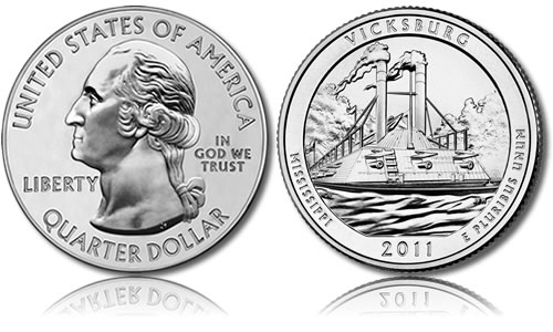 Vicksburg National Military Park Silver Bullion Coin