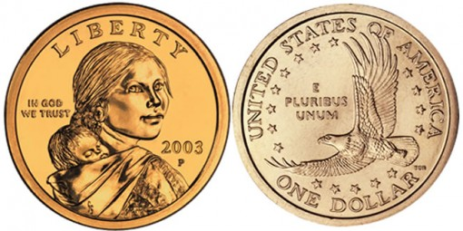 Sacagawea Native American $1 Coins (US Mint images)