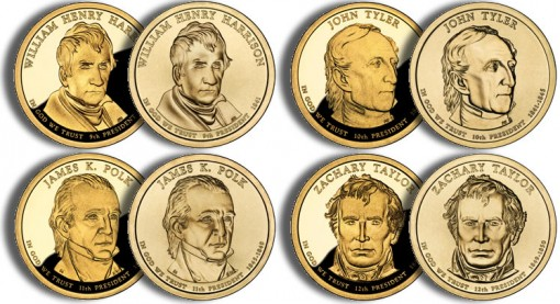 2009 Presidential $1 Coins (US Mint images)