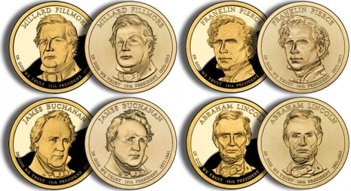 2010 Presidential $1 Coins (US Mint images)