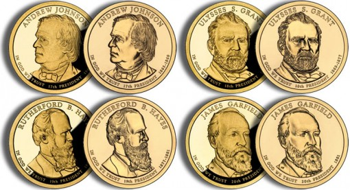 2011 Presidential $1 Coins (US Mint images)