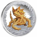 Thorny Devil Lizard 2014 1oz Silver Proof Coin