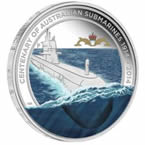 Centenary of Australian Submarines 2014 1oz Silver Proof Coin & Replica Badge Set