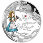 Alice in Wonderland Silver Coin