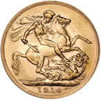 1914 King George V Perth Mint Gold Sovereign