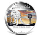 2012 Discover Australia Red Kangaroo 1 oz Silver Proof Coin