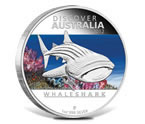 2012 Discover Australia Whale Shark 1 oz Silver Proof Coin