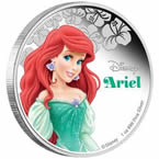 Disney Princess Ariel Silver Coin
