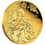 Disney Princess Aurora Gold Coin