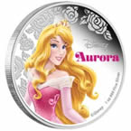 Disney Princess Aurora Silver Coin