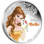 Disney Princess Belle Silver Coin