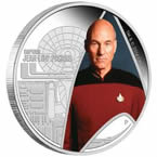 Star Trek Captain Picard Silver Coin