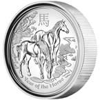 Australian Lunar Series II 2014 Year of the Horse 1oz Silver Proof High Relief Coin