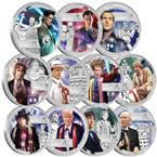 Doctor Who 50th Anniversary 2013 1/2oz Silver Proof Eleven-Coin Set