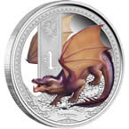 Mythical Creatures - Dragon 2014 1oz Silver Proof Coin