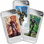 Transformers: Age of Extinction 2014 1oz Silver Proof Lenticular Three-Coin Pack