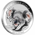 Australian Koala 2014 1 oz Silver Coloured Coin