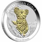 Australian Koala 2015 1oz Silver Gilded Edition
