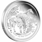 2014 Year of the Horse 5 oz Silver Proof Coin