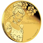 Disney Princess - Cinderella 2015 1/4oz Gold Proof Coin