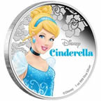 Disney Princess - Cinderella 2015 1oz Silver Proof Coin