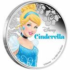 Disney Princess - Cinderella 2015 1oz Silver Proof Coin