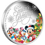 Disney Season's Greetings 2014 1/2oz Silver Proof Coin