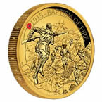 Baptism of Fire 2015 2oz Gold Proof High Relief Coin