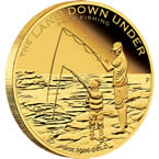 The Land Down Under – Rock Fishing 2014 1/4oz Gold Proof Coin