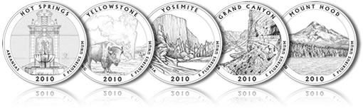 2010 America the Beautiful Quarters Designs
