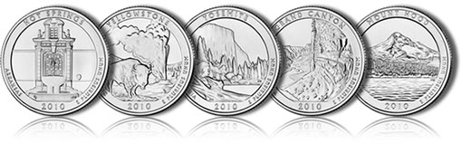 2010 America the Beautiful Quarters Images