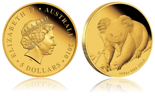 2010 Australian Koala Gold Proof Coin