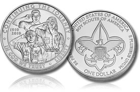 2010 Boy Scouts Uncirculated Silver Dollar