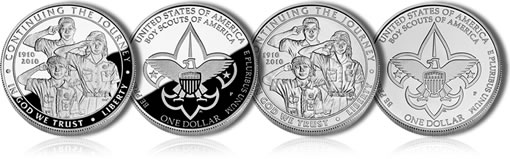2010 Boy Scouts of America Centennial Silver Dollars
