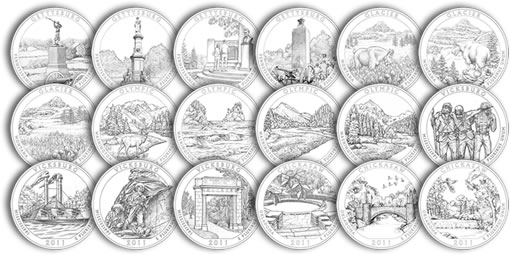 2011 America the Beautiful Quarter Design Candidates