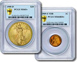 PCGS Secure Plus graded coins