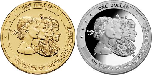Four headed Royal Australian Mint $1 Coins