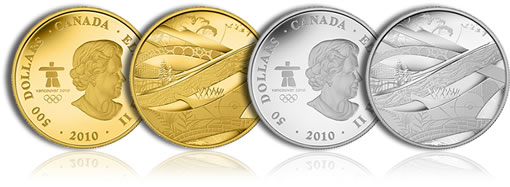 Vancouver 2010 Look of the Games Gold and Silver Coins
